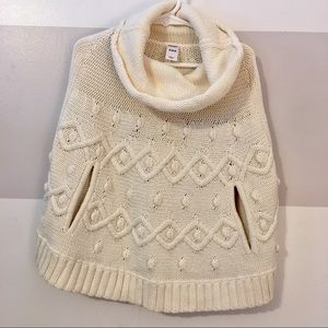 Girls Old Navy Cowl Neck Poncho Sweater